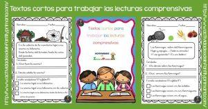 Textos cortos para trabajar las lecturas comprensivas en primaria