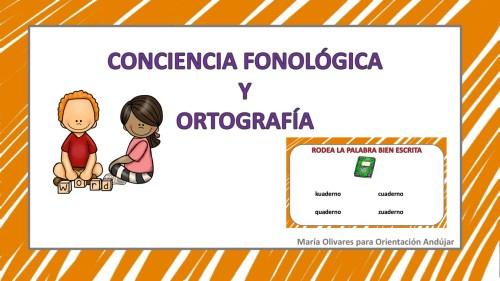 Conciencia fonologica y ortografía