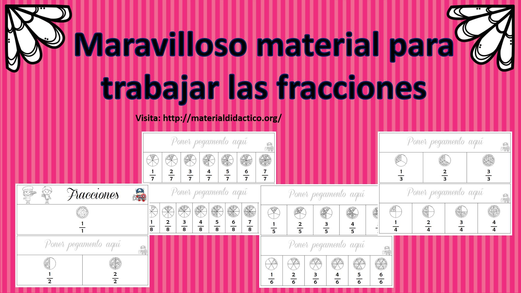 Material para trabajar fracciones