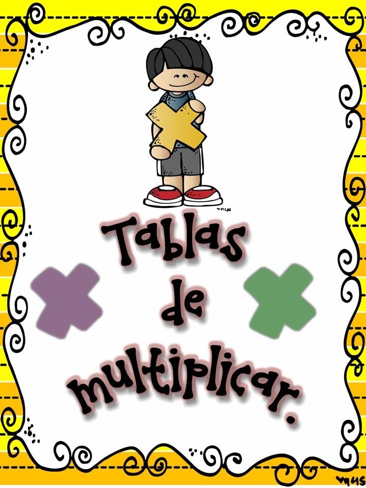 carteles tablas de multiplicar