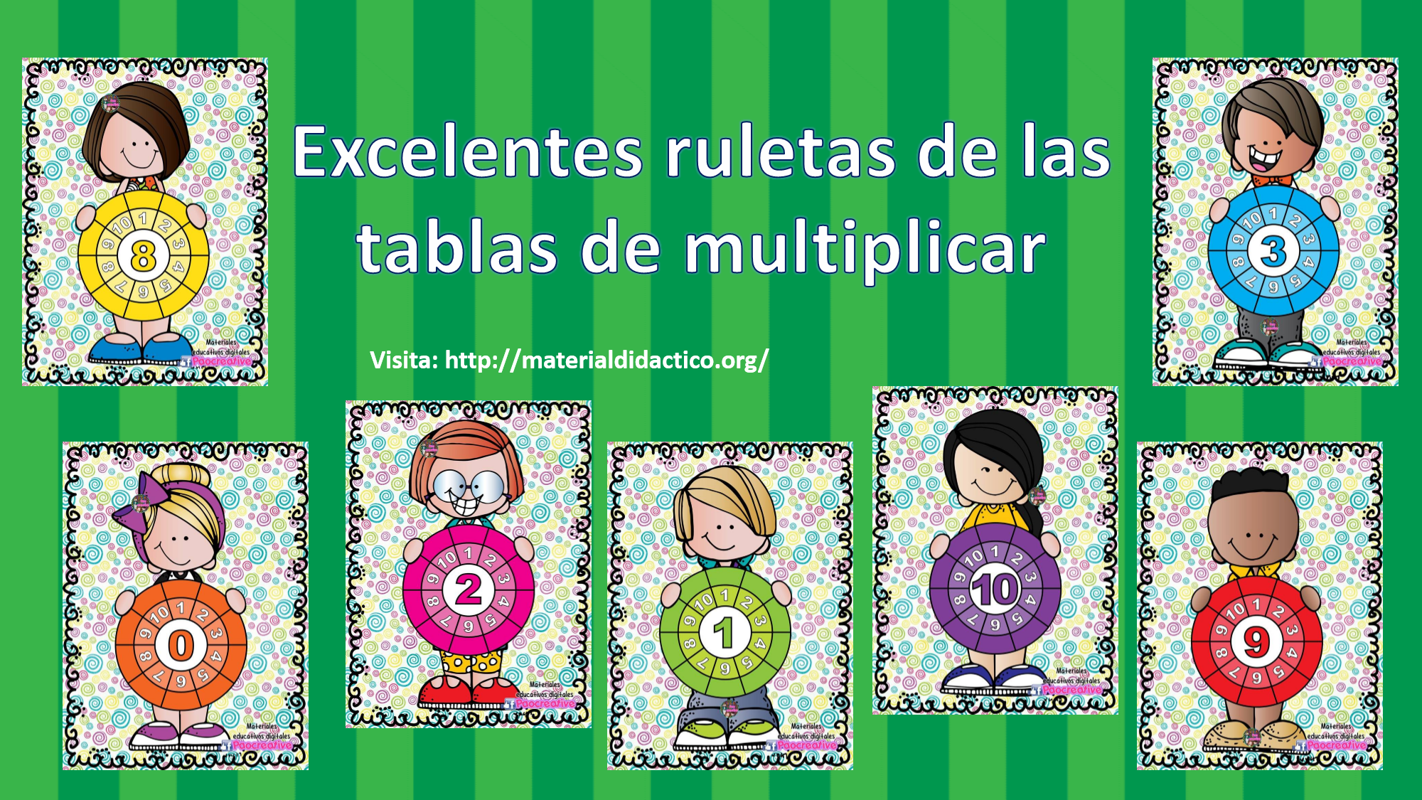 ruletas de tablas de multiplicar