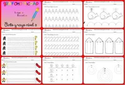 Completo cuaderno de aprestamiento trabajamos la Grafomotricidad Dificultad Alta