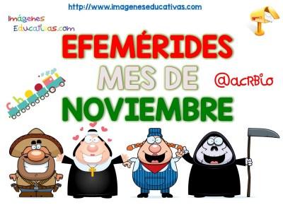Efemérides mes de noviembre fondo blanco