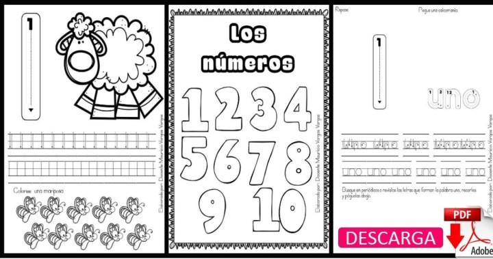 FICHAS para trabajar los Números en Infantil y Preescolar