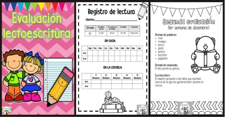 Material para la evaluación de la lectoescritura en Infantil y Primaria