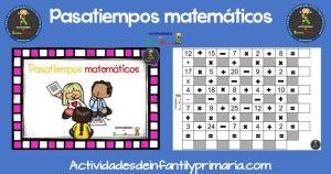 Pasatiempos matemáticos para primaria