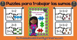 Puzzles para trabajar las sumas