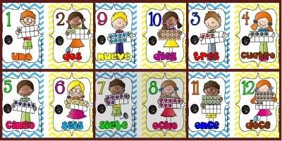 Un paquete imprimible de tarjetas para aprender los números. Del 1 al 20